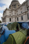 Occupy London camp, St Paul's Cathedral, on the day after a legal deadline for its removal set by the City of London Corporation. - Philip Wolmuth - 18-11-2011