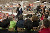 Ed Miliband MP holds a Qustion and answer session with supermarket workers and local residents in Asda, Clapham. - Philip Wolmuth - 28-11-2011