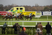 National Hunt meeting at Doncaster racecourse. - Philip Wolmuth - &,2010s,2011,ambulance,Ambulances,animal,animals,bet,bets,betting,care,course,courses,domesticated ungulate,domesticated ungulates,Emergency Services,equestrian,equine,gambler,gamblers,gambling,hea,he
