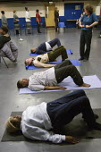 Yoga session at Open Age open day at Paddington Arts London - Philip Wolmuth - 31-01-2007