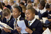 Years 3 & 4 choir practice, St Mary and St Michael Primary School, Stepney, Tower Hamlets, London. - Philip Wolmuth - 30-09-2008