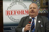 Eric Pickles MP, Secretary of State for Communities and Local Government. Launch of the Trade Union Reform Campaign, House of Commons, London. - Philip Wolmuth - 24-01-2012