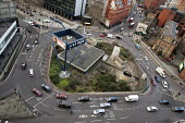 Old Street roundabout in Shoreditch, London, a run-down commercial district also known as Silicon Roundabout, which is undergoing gentrification as it becomes a centre for web-based companies and IT s... - Philip Wolmuth - 26-01-2012