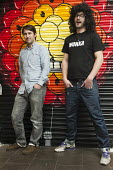 Mills and Sinx, co-founders of ustwo, a mobile app developer based in Shoreditch, London, a run-down commercial district also known as Silicon Roundabout, which is undergoing gentrification as it beco... - Philip Wolmuth - 15-02-2012