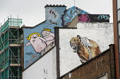 Murals in Shoreditch, London, a run-down commercial district also known as Silicon Roundabout, which is undergoing gentrification as it becomes a centre for web-based companies and IT start-ups. - Philip Wolmuth - 06-03-2012