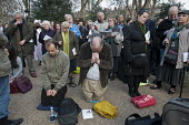 Supporters of anti-choice group 40 Days for Life hold a prayer meeting outside a British Pregnancy Advisory Service clinic in Bloomsbury, London, where they have been conducting a daily picket during... - Philip Wolmuth - &,2010s,2012,abortion,activist,activists,adult,adults,against,anti,anti-abortion movement,belief,BPAS,campaign,campaigner,campaigners,campaigning,CAMPAIGNS,Catholic,catholicism,choose,Christian,christ