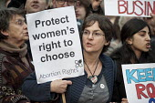 Pro-choice protest by Abortion Rights outside a British Pregnancy Advisory Service clinic in Bloomsbury, London, where anti-choice group 40 Days for Life is conducting a daily picket during Lent. - Philip Wolmuth - 30-03-2012