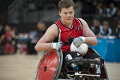Canada plays Sweden in the London International Invitational Wheelchair Rugby Tournament in the Basketball Arena of the Olympic Park, London. - Philip Wolmuth - 19-04-2012