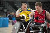 Canada plays Sweden in the London International Invitational Wheelchair Rugby Tournament in the Basketball Arena of the Olympic Park, London. - Philip Wolmuth - ,2010s,2012,basketball,bound,Canada,disabilities,disability,disable,disabled,disablement,game,games,incapacity,London,minorities,mobility,needs,Olympic,Olympics,paralympians,Paralympic,paralympics,Par