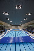 The Aquatics Centre, designed by architect Zaha Hadid, Olympic Park, London. - Philip Wolmuth - 19-04-2012