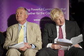 London Mayoral candidates Ken Livingstone and Boris Johnson. London Citizens Mayoral Accountability Assembly, Central Hall, Westminster. - Philip Wolmuth - 25-04-2012