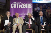 London Mayoral candidates Jenny Jones, Ken Livingstone, Boris Johnson and Brian Paddick. London Citizens Mayoral Accountability Assembly, Central Hall, Westminster. - Philip Wolmuth - 25-04-2012