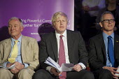 London Mayoral candidates Ken Livingstone, Boris Johnson and Brian Paddick. London Citizens Mayoral Accountability Assembly, Central Hall, Westminster. - Philip Wolmuth - 25-04-2012