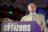 London Mayoral candidate Ken Livingstone. London Citizens Mayoral Accountability Assembly, Central Hall, Westminster. - Philip Wolmuth - 25-04-2012