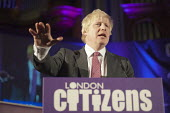London Mayoral candidate Boris Johnson. London Citizens Mayoral Accountability Assembly, Central Hall, Westminster. - Philip Wolmuth - 25-04-2012