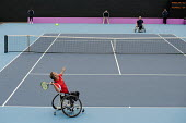 Wheelchair Tennis International competitiion at the Eton Manor arena in the London 2102 Olympic Park. - Philip Wolmuth - 05-05-2012