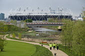 Construction workers carry out final checks. London 2012 Olympic Park and Stadium, Stratford. - Philip Wolmuth - 05-05-2012
