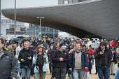 Crowds enter the London 2012 Olympic Park for the official opening of the Olympic Stadium. - Philip Wolmuth - 05-05-2012