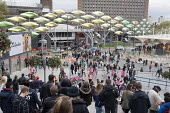 Crowds pass through the Stratford Centre on the day of the formal opening of the London 2012 Olympic Stadium. - Philip Wolmuth - 05-05-2012