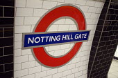 Notting Hill Gate tube station sign. - Philip Wolmuth - 29-05-2012
