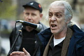 Ivan Monckton, Unite Executive Council. Farm workers protest outside Parliament at government plans to scrap the Agricultural Wages Board, which protects 154,000 rural workers' pay, terms and conditio... - Philip Wolmuth - 12-11-2012