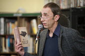 Author Will Self reads from his novel Umbrella, which has been shortlisted for the 2012 Man Booker prize, at the occupied Friern Barnet library. The library has been run by Occupy London and local vol... - Philip Wolmuth - 2010s,2012,ACE,activist,activists,Arts,Austerity Cuts,author,authors,Barnet,book,books,CAMPAIGN,campaigner,campaigners,CAMPAIGNING,CAMPAIGNS,closed,closing,closure,closures,communicating,communication