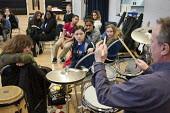 Half-term community music project at the Stowe Youth Club, part of the Royal Philharmonic Orchestra's Resound outreach programme, in partnership with the Paddington Development Trust. - Philip Wolmuth - 20-02-2013