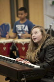 Half-term community music project at the Stowe Youth Club, part of the Royal Philharmonic Orchestra's Resound outreach programme, in partnership with the Paddington Development Trust. - Philip Wolmuth - 21-02-2013