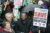 Labour MPs Jeremy Corbyn and David Lammy. Save Whittington Hospital Campaign march and rally, Islington, London. - Philip Wolmuth - 16-03-2013
