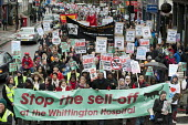 Save Whittington Hospital Campaign march and rally, Islington, London. - Philip Wolmuth - 16-03-2013