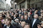 Funeral of ex-Prime Minister Margaret Thatcher, City of London. - Philip Wolmuth - 2010s,2013,cities,city,crowd,Funeral,FUNERALS,Minister,mobile phones,mobiles,people,photographing,photography,Social Issues,SOI,spectators,urban