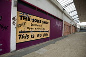 The Joke shop. Boarded up and empty shops in Margate, Kent. - Philip Wolmuth - 2010s,2013,boarded up,business,closed,closed closure,closed down,closing,closure,closures,disused,DOWNTURN,ebf,EBF Economy,Economic,economic crisis,economy,Kent,Margate,outlet,outlets,recession,recess