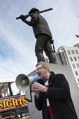 Len McCluskey, UNITE Gen Sec. International Worker's Memorial Day rally to commemorate those killed in accidents at work. Tower Hill, London. - Philip Wolmuth - 28-04-2013