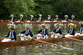 Eton College schoolboys rehearse the annual Procession of Boats ceremony the Fourth of June on the River Thames. For over two hundred years Eton has celebrated the birthday of King George III with the... - Philip Wolmuth - 29-05-2013
