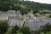 Ex-industrial buildings and housing in Hebden Bridge, West Yorkshire. The town used to be a centre for the wool trade, weaving and clothing manufacture, but is now reliant on tourism, with many reside... - Philip Wolmuth - 09-08-2013