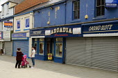 Amusement arcade, casino and closed shops in Seaham high street, County Durham. - Philip Wolmuth - 10-08-2013