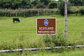 Scotland Welcomes You road sign, Dumfries and Galloway. - Philip Wolmuth - 15-08-2013