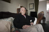 George Phillips (94) has lived in his flat on the Regents Park Estate in West Euston since it was built in 1955. His block, Eskdale, will be demolished when work begins on the HS2 high-speed rail line... - Philip Wolmuth - 2010s,2013,adult,adults,age,aged,ageing population,apartments,Birmingham,Borough,Camden,cities,city,developer,developers,DEVELOPMENT,elderly,Euston,flat,flats,homes,housing,HS2,London,MATURE,OAP,OAPS,