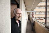 George Phillips (94) has lived in his flat on the Regents Park Estate in West Euston since it was built in 1955, his near neighbour, Stan Passmore (87) since 1961. Their block, Eskdale, will be demoli... - Philip Wolmuth - 2010s,2013,adult,adults,age,aged,ageing population,apartments,Birmingham,Borough,Camden,cities,city,developer,developers,DEVELOPMENT,elderly,Euston,flat,flats,homes,housing,HS2,London,MATURE,OAP,OAPS,