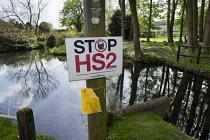 Anti-HS2 sign in Little Missenden, Buckinghamshire - Philip Wolmuth - 06-05-2013