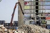 Demolition of Grange House, a 12 storey tower block on the Gascoigne Estate in the London Borough of Barking and Dagenham, part of a regeneration plan involving the demolition of all 16 of the estate'... - Philip Wolmuth - 04-09-2013