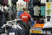 Sports Direct store, London. 90% of staff at the sportswear chain are employed on zero hours contracts. - Philip Wolmuth - 13-09-2013