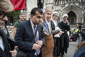 A disabled witness gives evidence at a mock trial of Justice Minister Chris Grayling. UK Uncut and Disabled People Against the Cuts block the road outside the Royal Courts of Justice in protest at pro... - Philip Wolmuth - 05-10-2013