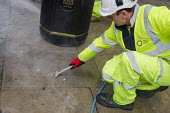 A London Highways Alliance street-cleaning team at work on a Clean Up Day organised by Edgware Road Partnership. - Philip Wolmuth - 19-09-2013