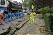 Pavement replacement works by private contractor Volker Highways on behalf of Camden Council. - Philip Wolmuth - 23-09-2013