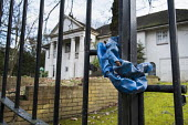 The Georgians, one of 10 empty and semi-derelict mansions in The Bishops Avenue in north London, sold by the Saudi royal family to the LJ Capital investment fund in 2013 for �73 million. Many other ma... - Philip Wolmuth - ,2010s,2014,AFFLUENCE,AFFLUENT,bankrupt,bankruptcy,billionaire,billionaires,Boarded Up,Bourgeoisie,Capital,chained,cities,city,derelict,DERELICTION,disused,EBF,Economic,Economy,elite,elitism,EQUALITY,