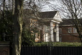 The Tower, one of 10 empty and semi-derelict mansions in The Bishops Avenue in north London, sold by the Saudi royal family to the LJ Capital investment fund in 2013 for �73 million. Many other mansio... - Philip Wolmuth - 2010s,2014,AFFLUENCE,AFFLUENT,bankrupt,bankruptcy,billionaire,billionaires,Boarded Up,Bourgeoisie,Capital,cities,city,derelict,DERELICTION,disused,EBF,Economic,Economy,elite,elitism,EQUALITY,families,
