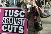 TUSC protest. Labour Party Special Conference on reform of its link to trade unions, ExCel Centre, London. - Philip Wolmuth - 01-03-2014