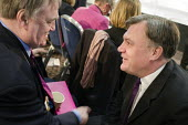 John Prescott MP and Ed Balls MP. Labour Party Special Conference on reform of its link to trade unions, ExCel Centre, London. - Philip Wolmuth - 01-03-2014