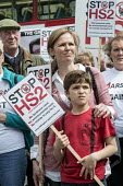 Stop HS2 demonstration outside Parliament on the day of the second reading of the HS2 Hybrid Bill. - Philip Wolmuth - 2010s,2014,activist,activists,against,anti,campaign,campaigner,campaigners,campaigning,CAMPAIGNS,DEMONSTRATING,demonstration,DEMONSTRATIONS,development,FEMALE,high,Hillingdon,HS2,London,outside,Parlia